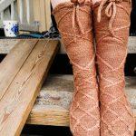 Gladiatrix Lace up stockings knitting pattern