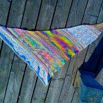 Unicorn Splash Shawl AKA Unicorn puke shawl